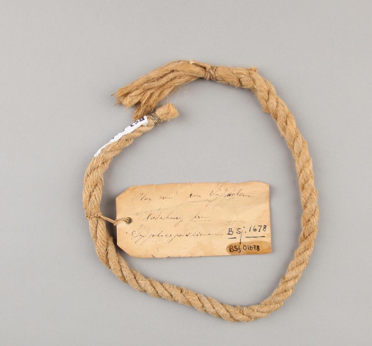 Taustump, del av slepetauene fra FRAM`s Sydpolekspedisjonen i 1911.
