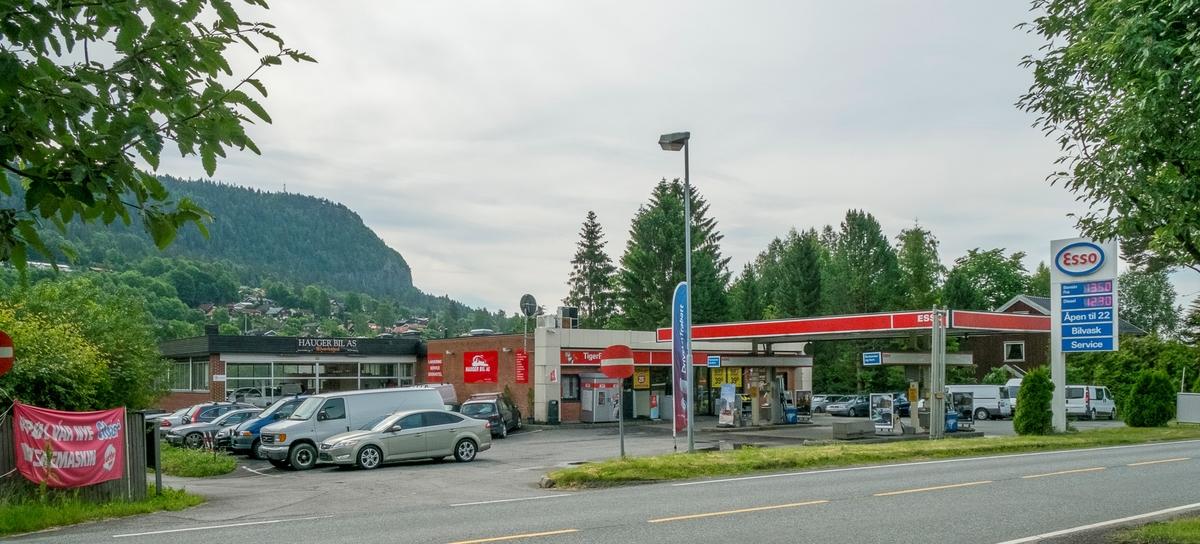 Esso bensinstasjon Gamle Lommedalsvei Rykkin Bærum