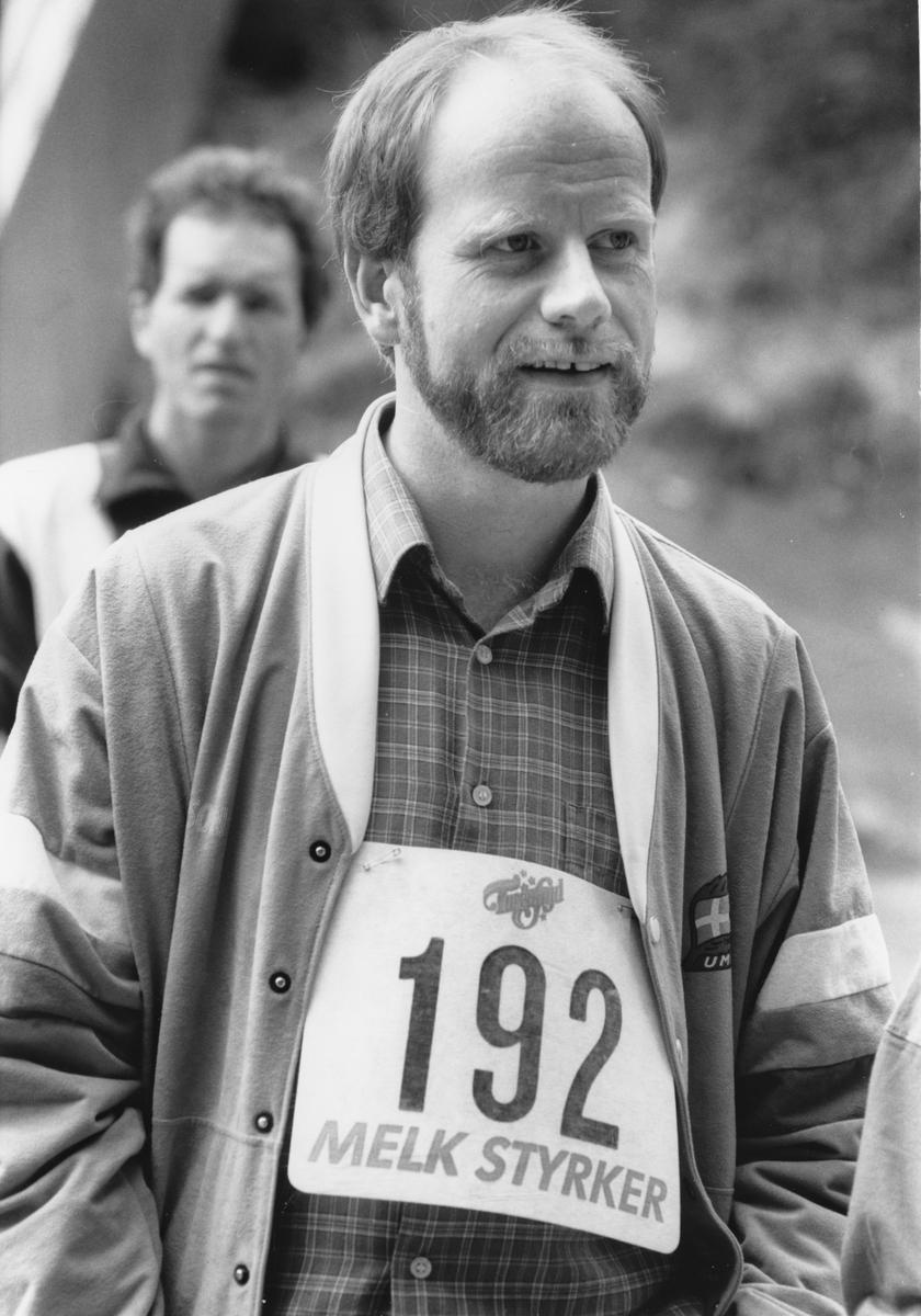 Politikere som deltar på orientering før valget 1989. Diverse politikere.
