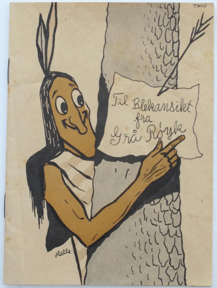Tegning av indianer på forsiden.