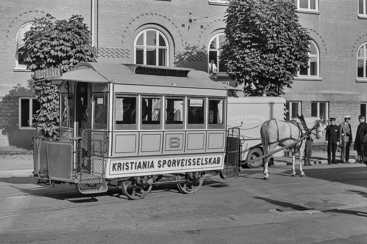 Oslo Sporveiers hestesporvogn på Majorstuen.