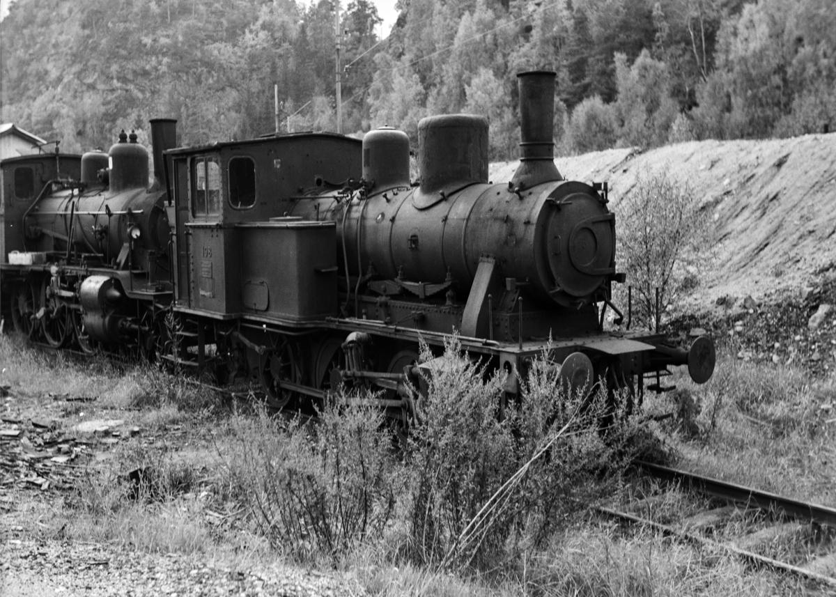 Utrangert damplokomotiv type 21a nr. 146 på Krossen ved Kristiansand.