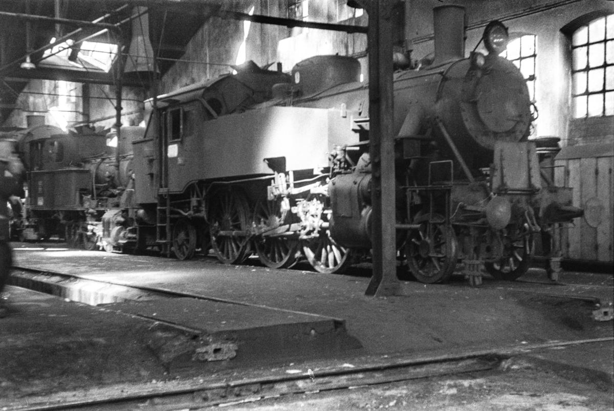 Damplokomotiv type 32c, trolig nr. 388, i Gamlestallen i Lodalen i Oslo.