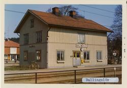 Stationen anlagd öppnad 1871-11-11. Litet stationshus i trä,
