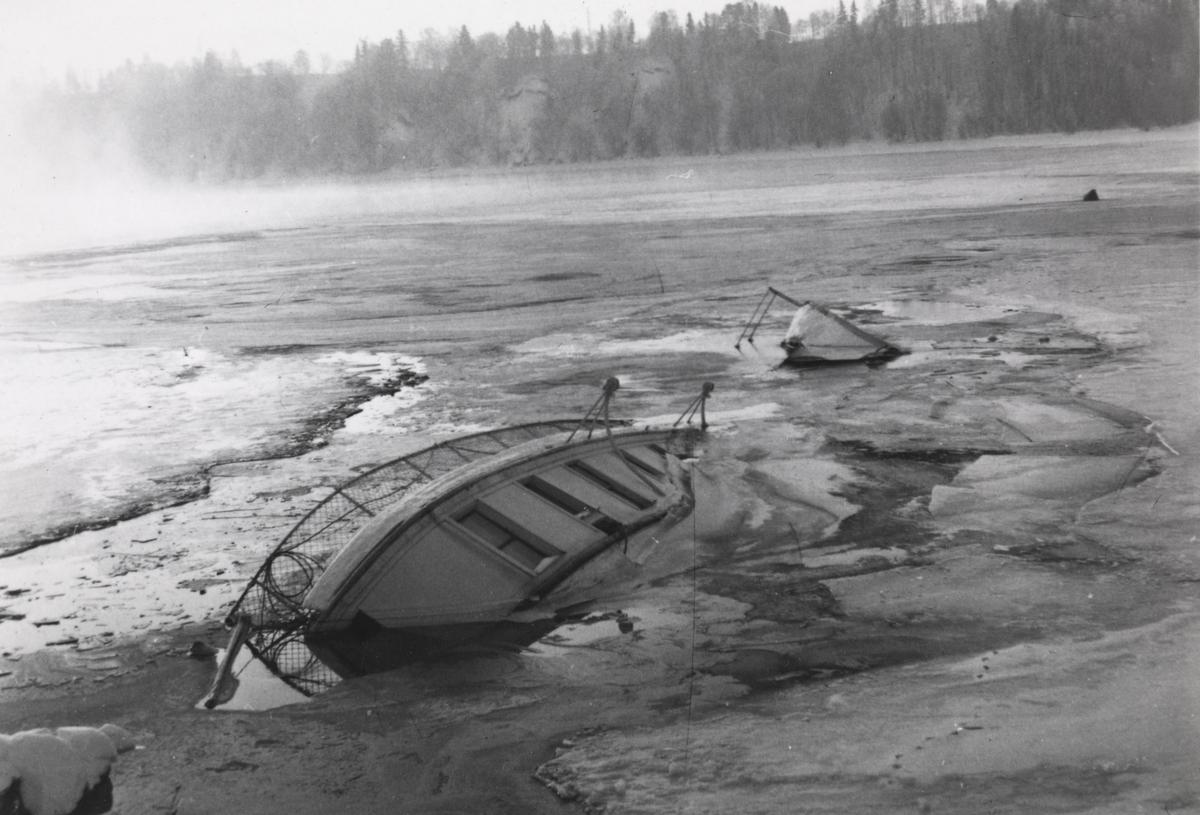 D/S Skibladner har sunket ved Minnesund