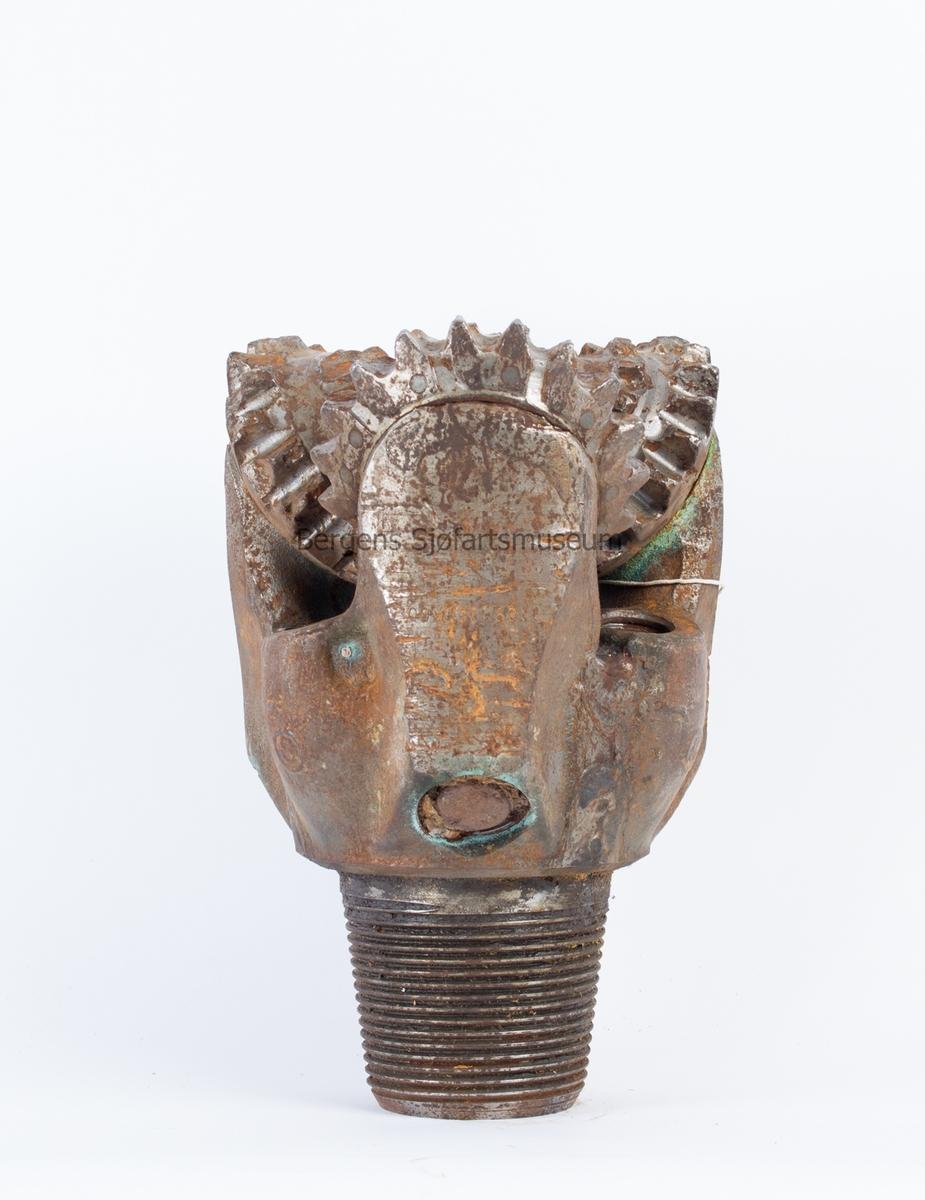 Borekrone fra Ekkofisk som ble brukt ved work-over i 1981. Karbid tann borekrone til 3,5 borestreng.