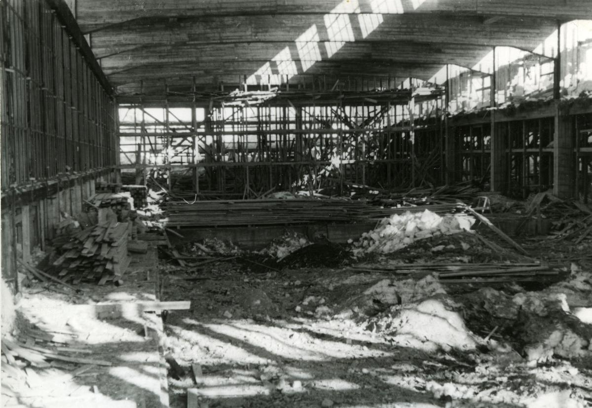 Smia Øvre fabrikk Anleggsarbeidet