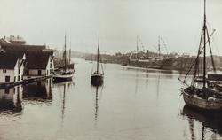 Smedasundet og Krossen sett mot syd, ca. 1910.