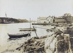Smedasundet sett mot nordvest, ca. 1898.