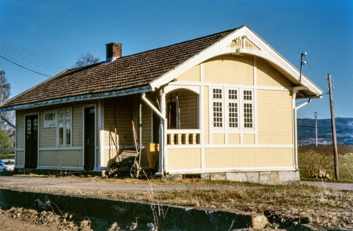 Kraby holdeplass på Skreiabanen