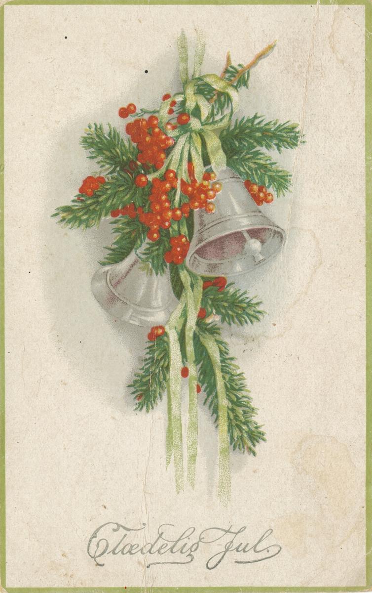 Postkort med julemotiv.