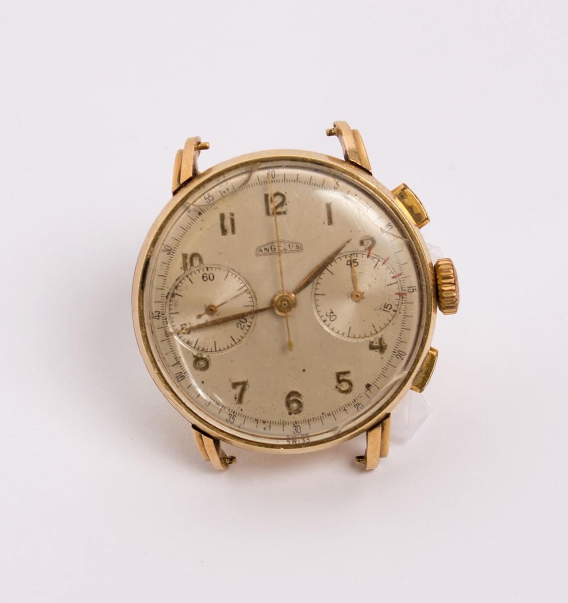 Herre armbåndsur uten lenke. Med inskripsjon fra offiserer og mannskap på hvalkokeri BALAENA.