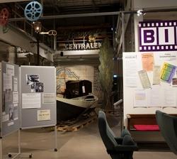 Stadshistoriska utställningen i arkivhuset. Film och biograf