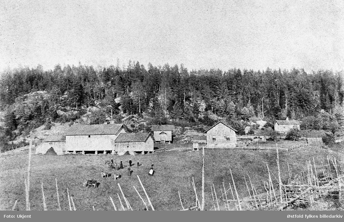 Parti fra Nordli gård i Spydeberg.