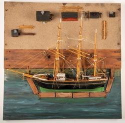 Modell av skipskran