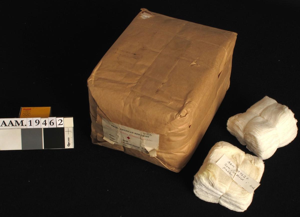 Pakke med kompresser