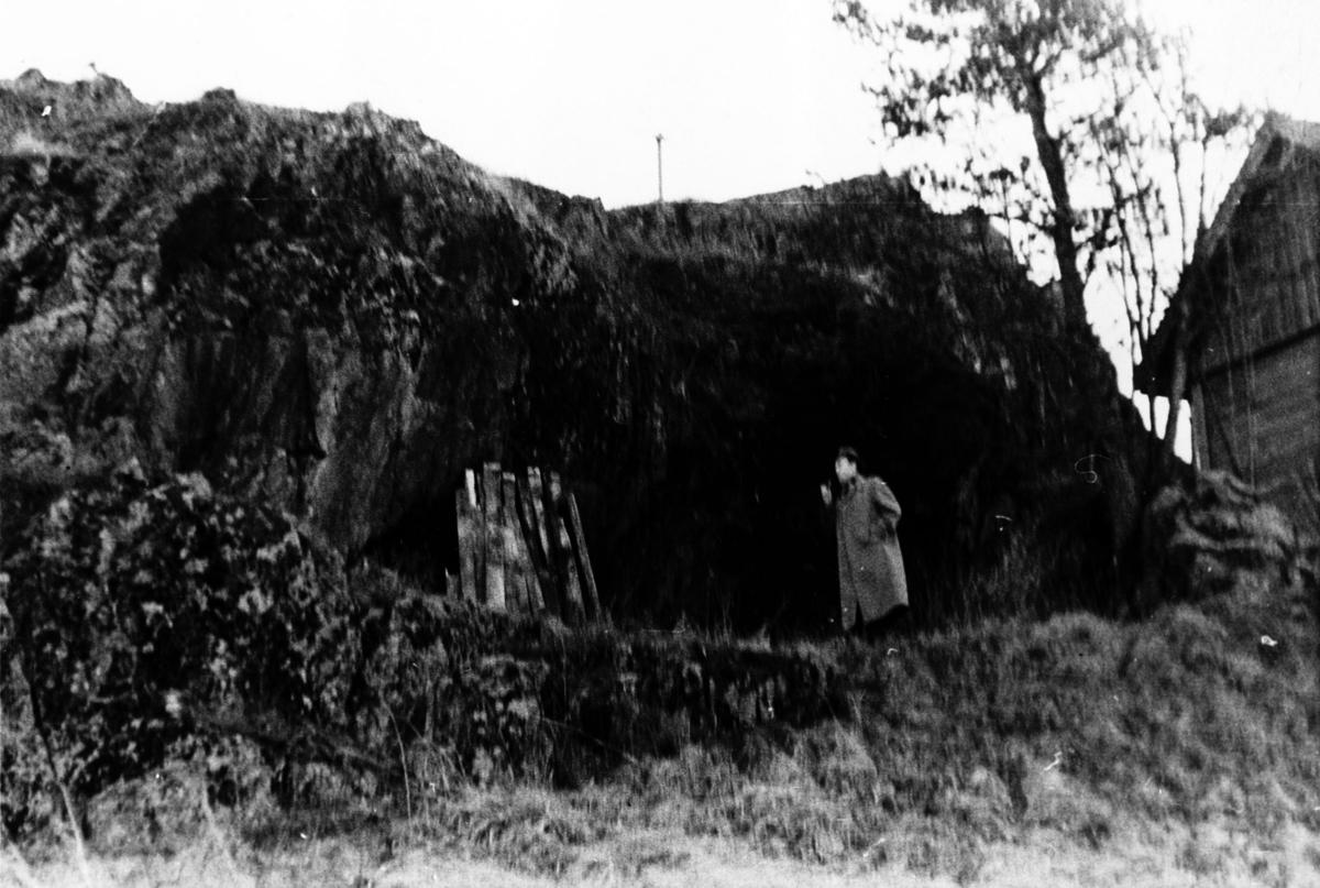 En mann står foran Hammersberget.