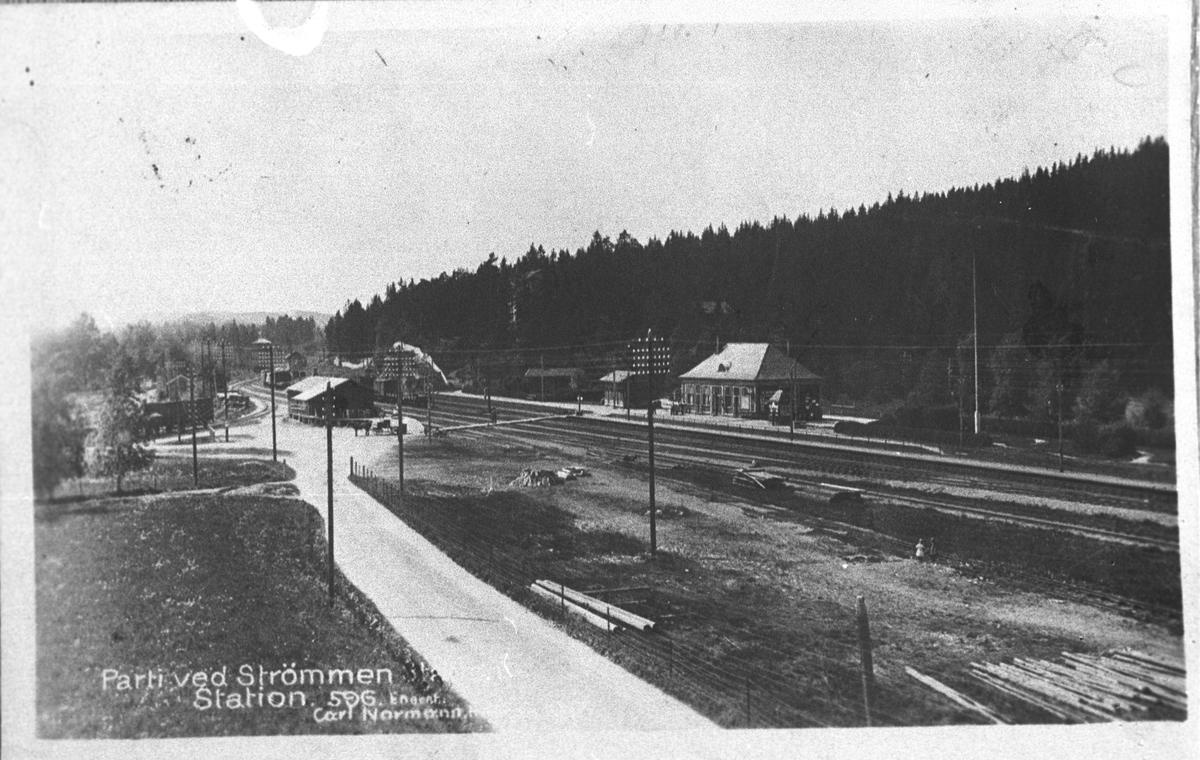 Strømmen Stasjon i 1915.