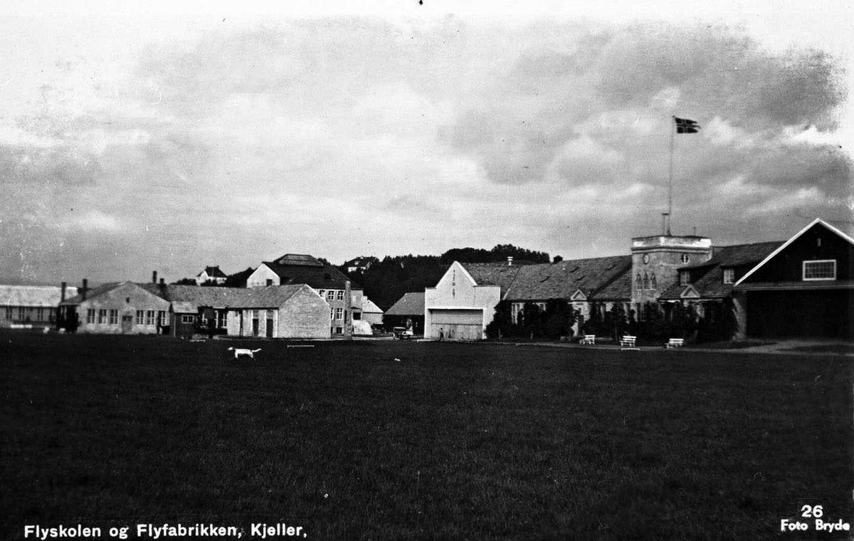 Flyskolen og Flyfabrikken Kjeller Postkort Bryde 26