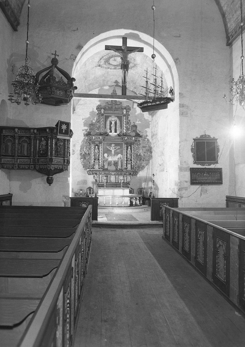 Lademoen kirke interiør Sverresborg Trøndelag Folkemuseum