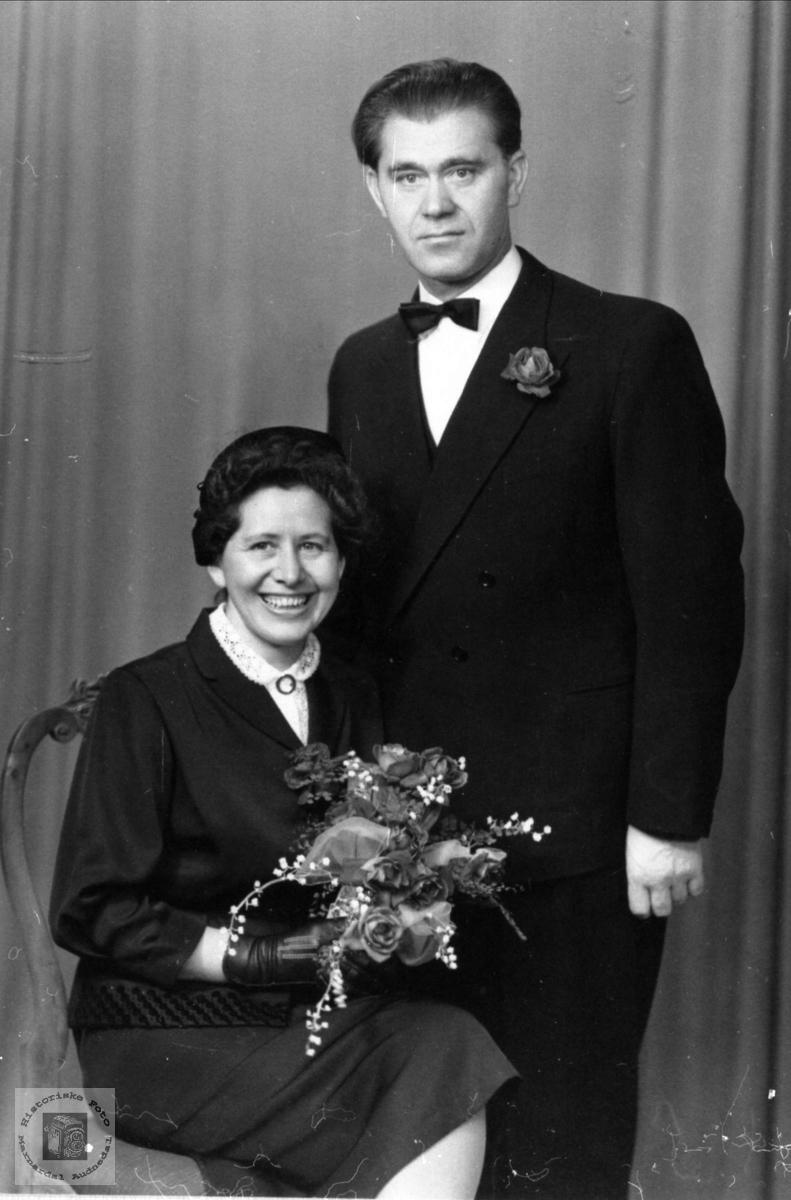 Ekteparet Rolv og Inger Skjævesland, Øyslebø.