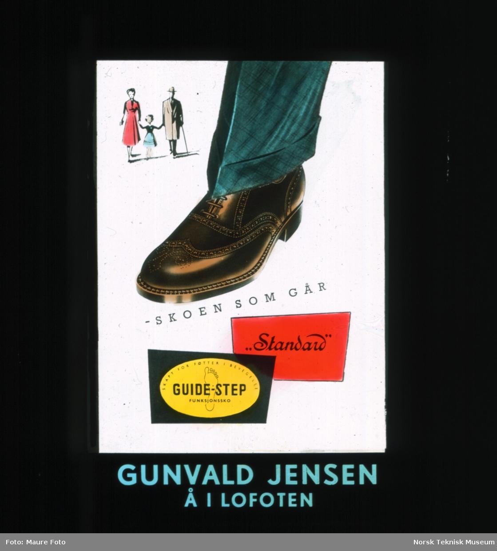 Reklame for sko. Skoen som går. Standard. Guide Step