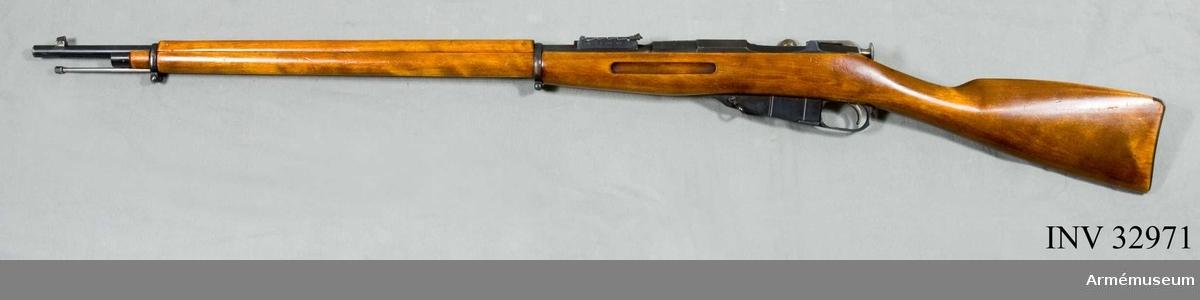 Grupp E II.  Magasinsgevär m/1891, Ryssland. S.k. 3-linjersgeväret.