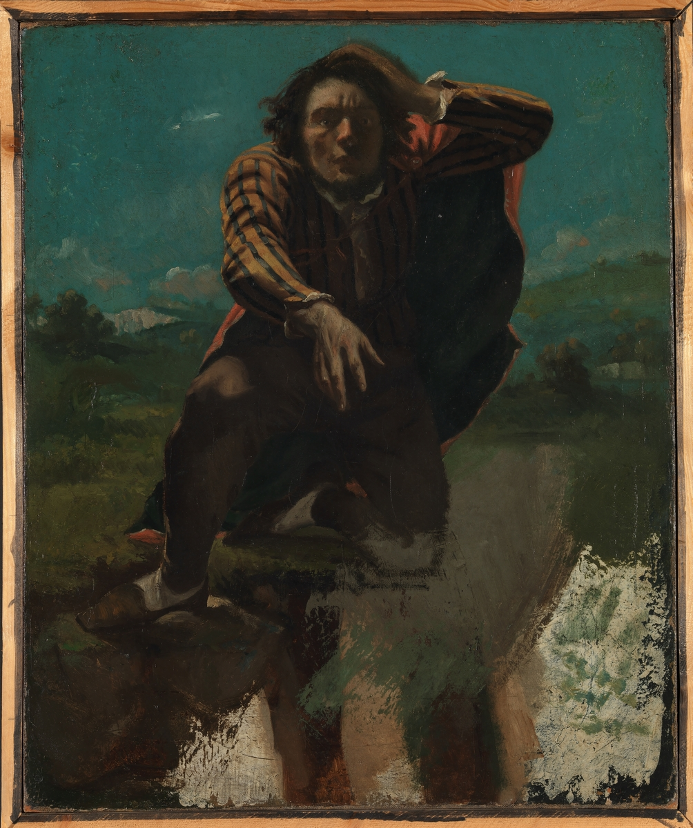 På kanten av stupet [Maleri]
