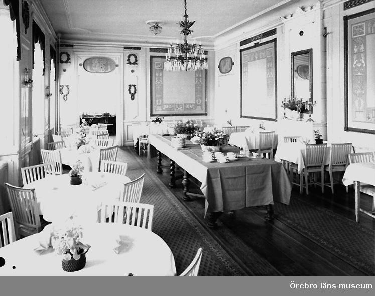 Svartå Herrgård, interiör av matsalen (den största).