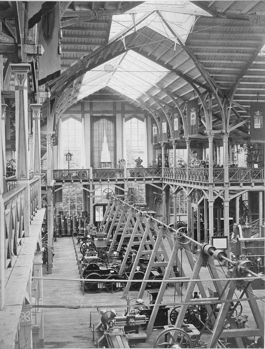 Industripalaset under Industriutställningen i Stockholm 1866.
