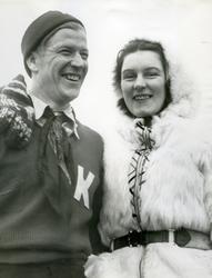 Birger Ruud med Magda