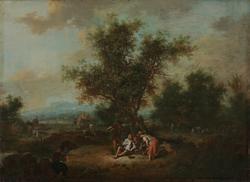 Landskap med bønder [Maleri]