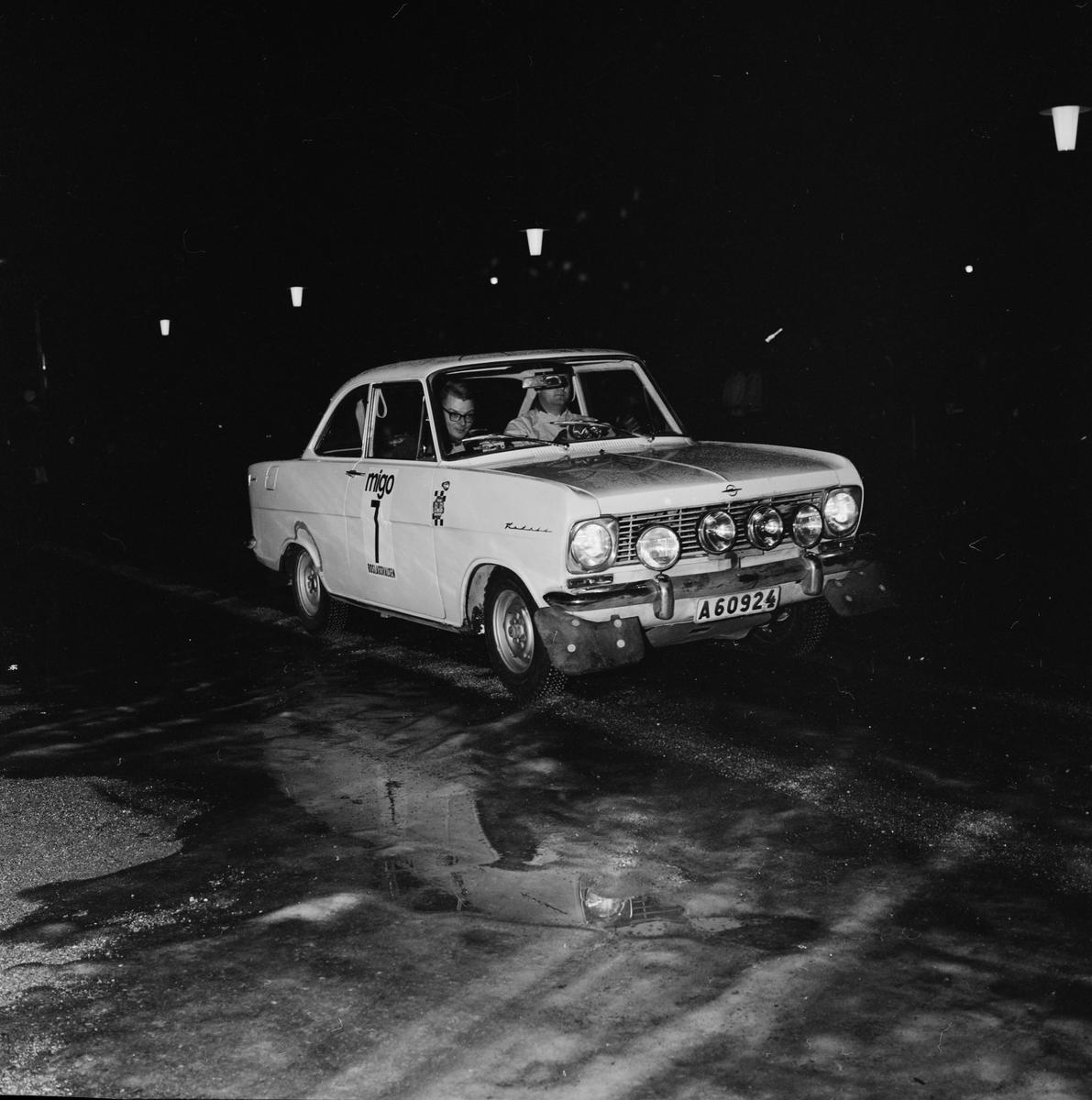 Biltävling - Roslagsvalsen, Uppland januari 1965