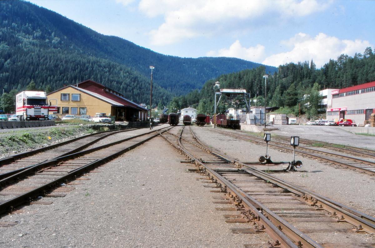 Sporområde på Fagernes stasjon.