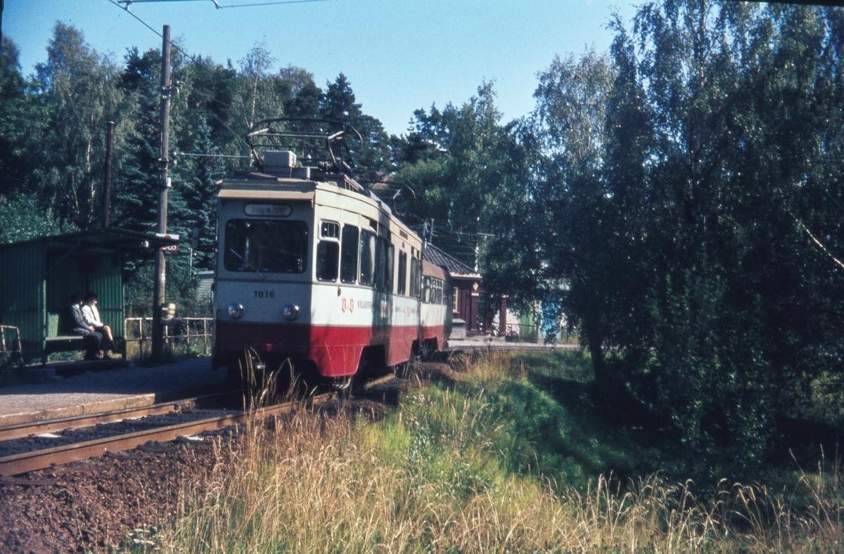 Ekebergbanes vogn 1016 på Ljabru