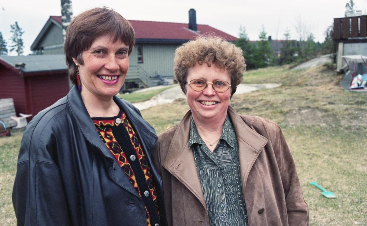 Portretter av Arbeiderpartiets stortingskandidater Inger Lise Andresen og Reidun Lappen.