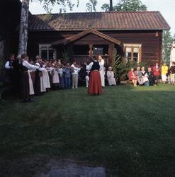 Nationaldagen i Bollnäs 6 juni 2001. Spelmän och publik utan