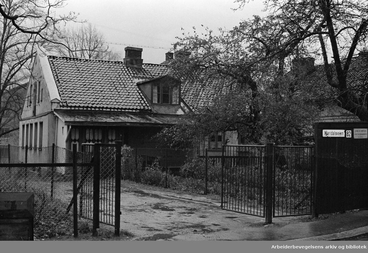 Maridalsveien: Maridalsveien 82. November 1961