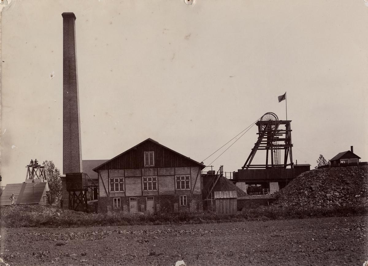Schakt nr. 1 i Bjuv, Höganäs Stenkolsgruva, 1897.