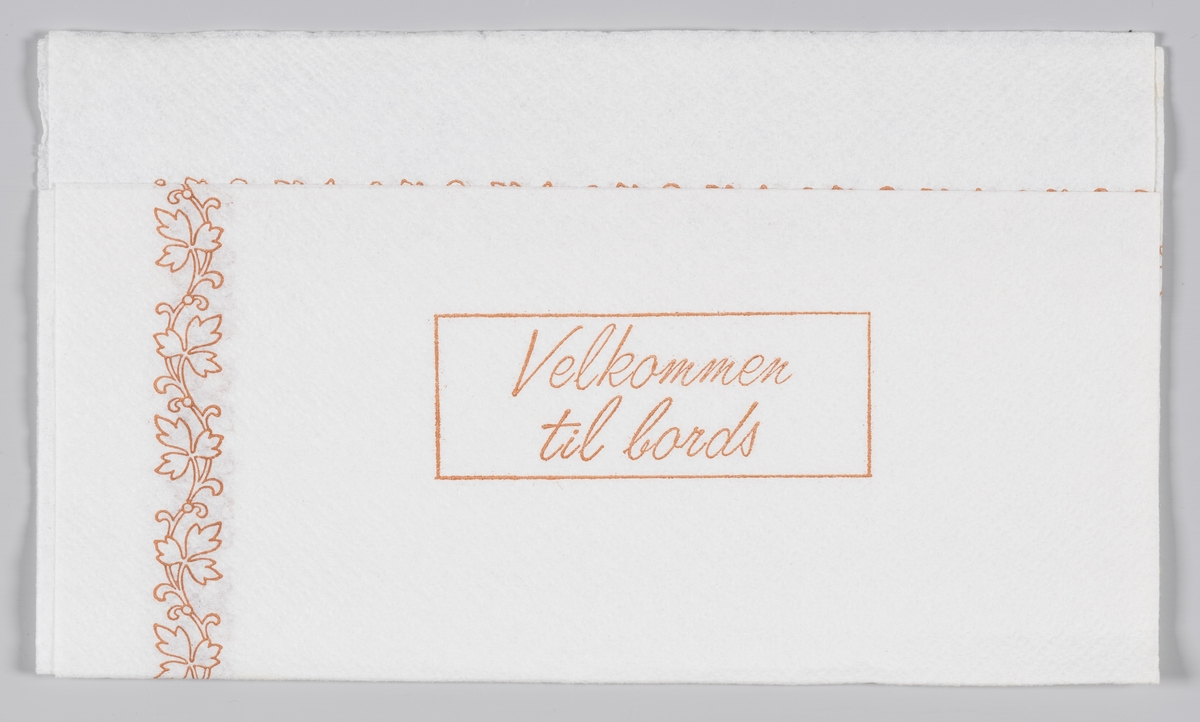 E bladranke langs kanten og reklame for Strømmen cafeteria og selskapslokaler.