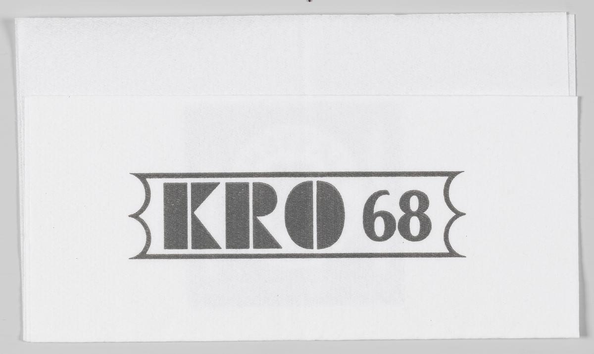 En reklametekst for Kro 68 på Hallingby og Norges Lastebileier-Forbund.  I 2003 ble Kro 68 på Hallingby solgt til Coop Ringerike.  Samme reklametekst på MIA.00007-004-0286.