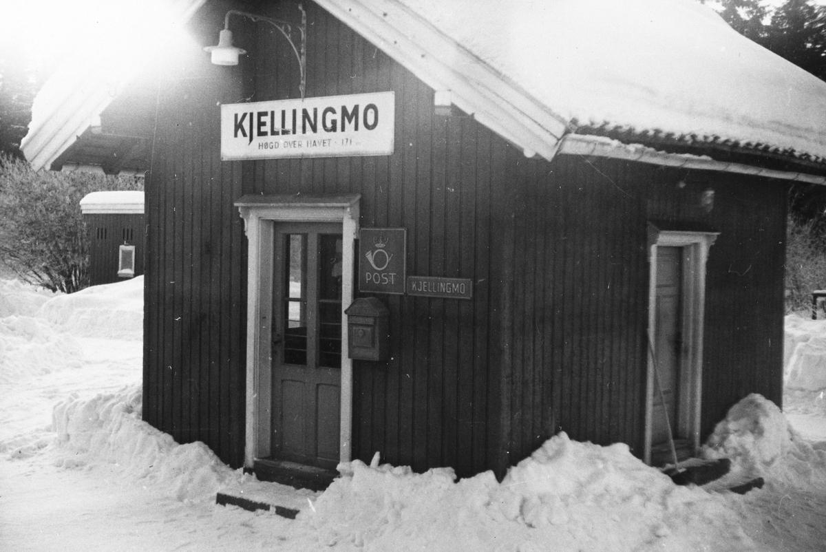Stasjonsbygningen på Killingmo (fra 1947: Kjellingmo). Stasjonen hadde også poståpneri.
