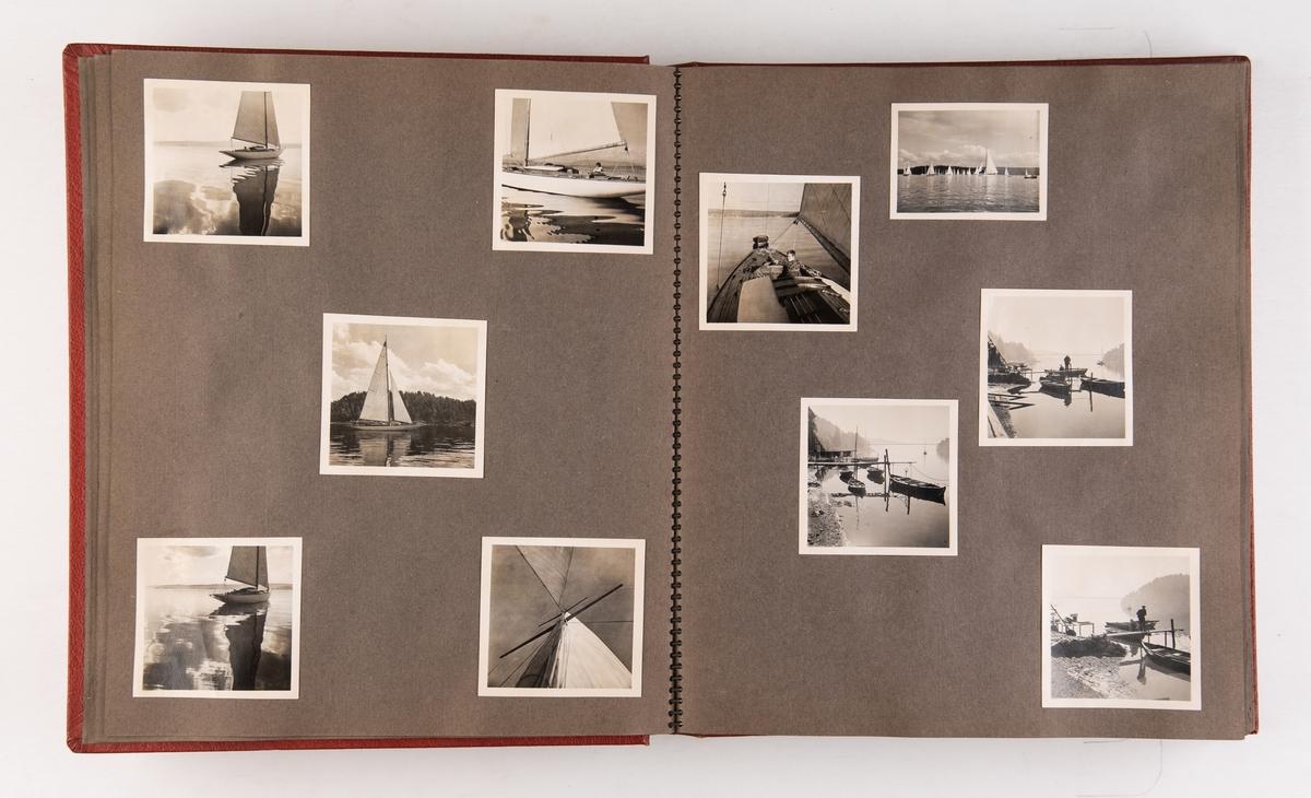 Album med fotografier fra reiser i Norge og utland. R/S 42 'Storebrand' er avbildet ved Oslo rådhus som er under bygging, så albumet må være fra da redningsskøyta var i tjeneste og rådhuset var under bygging