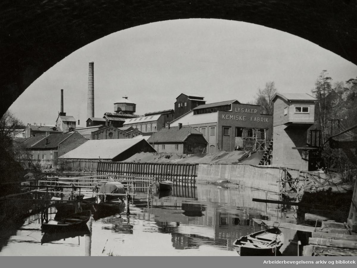 Lysaker kjemiske fabrikk. September 1959