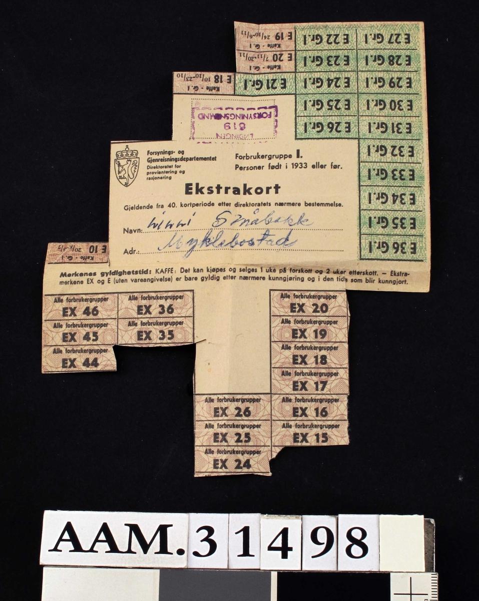 Ekstrakort fra 40. kortperiode