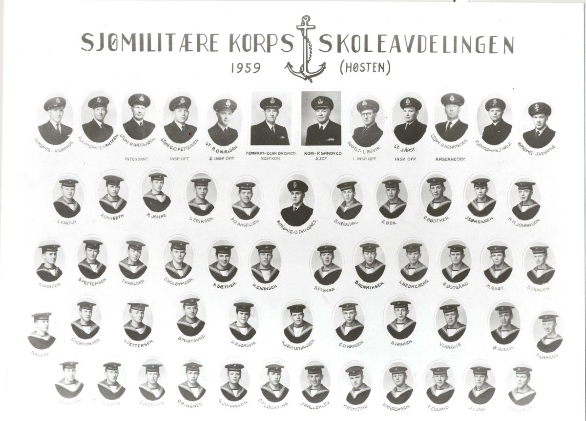 Sjømilitære korps-kull høsten 1959.