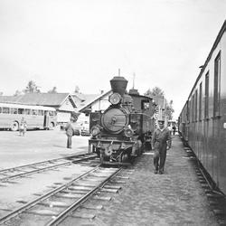Skifting med damplokomotiv XXIXb nr. 7 PRYDZ på Bjørkelangen