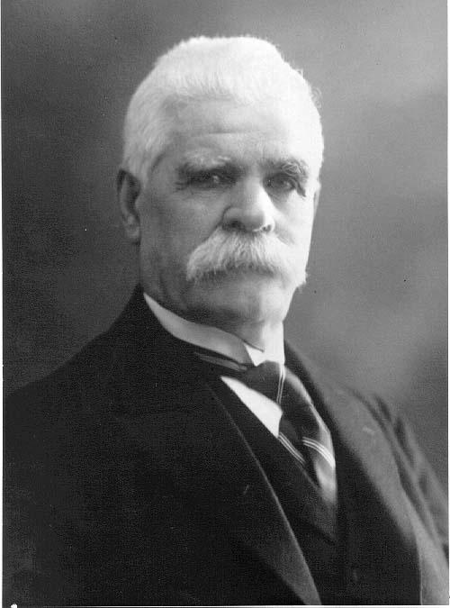 Porträtt av järnhandlare Carl Johan Roman.