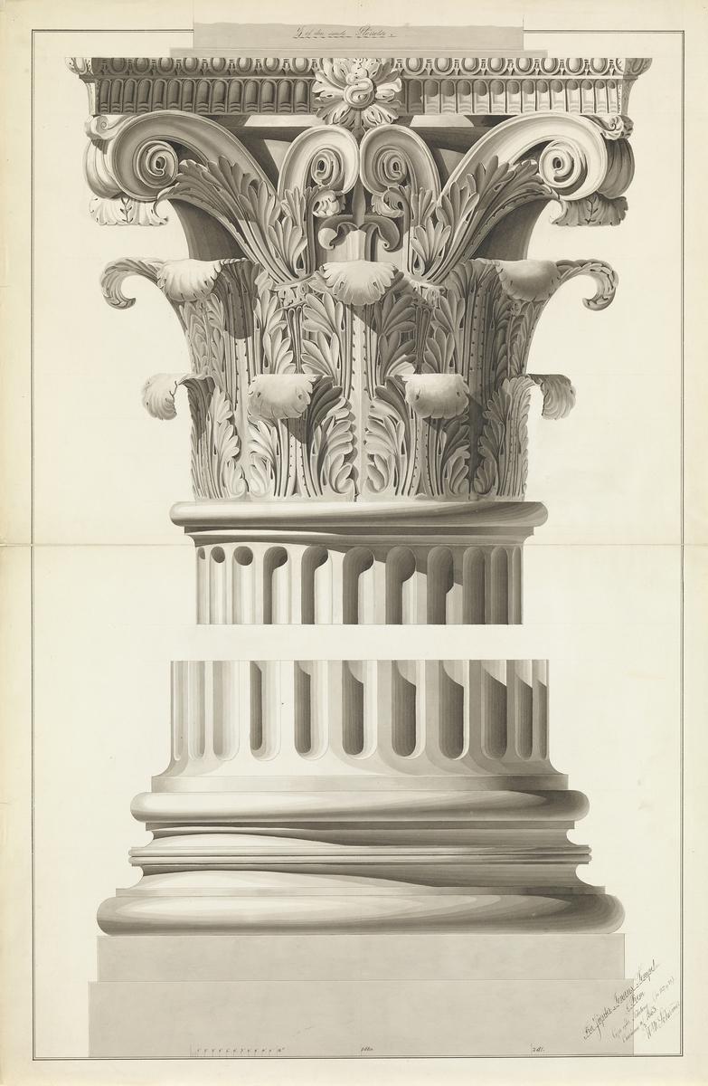 Søyle fra Jupiter Tonans-templet i Roma [Oppriss]