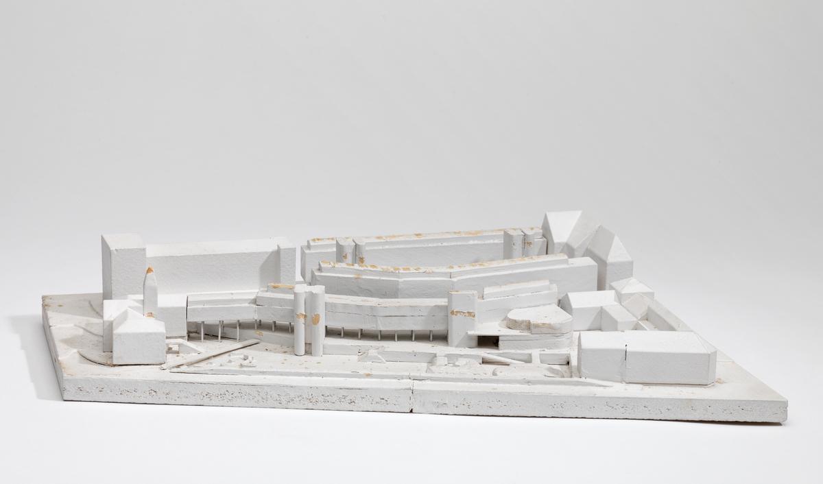 Utkast til bibliotek i Trondheim [Studiemodell]